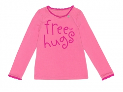 "Mim-Pi Langarm-Shirt/Longsleeve ""free hugs"" pink"