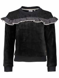 LIKE FLO Velours Sweater black