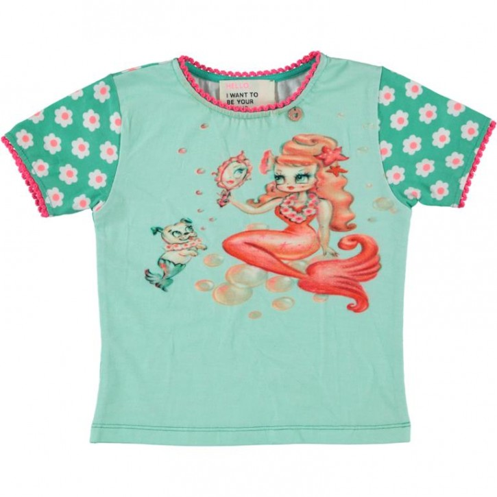 Mim-Pi T-Shirt Blumen Meerjungfrau green