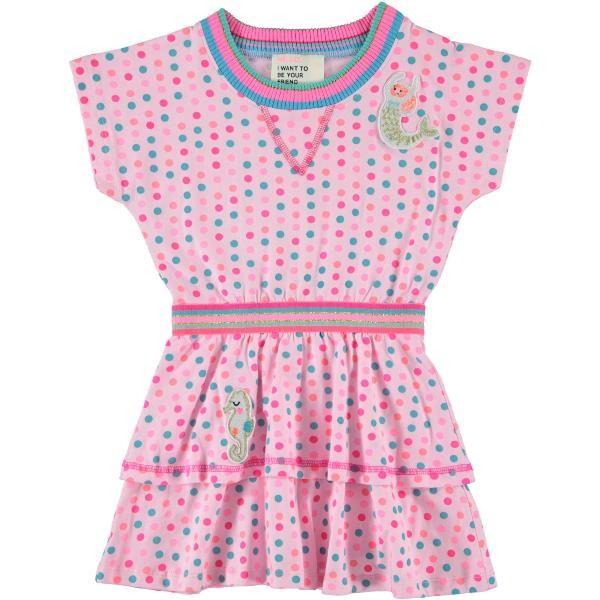 Mim-Pi Kleid Punkte Meerjungfrau rose multicolor