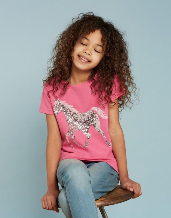 Joules Mädchen T-Shirt ASTRA Pferd pink