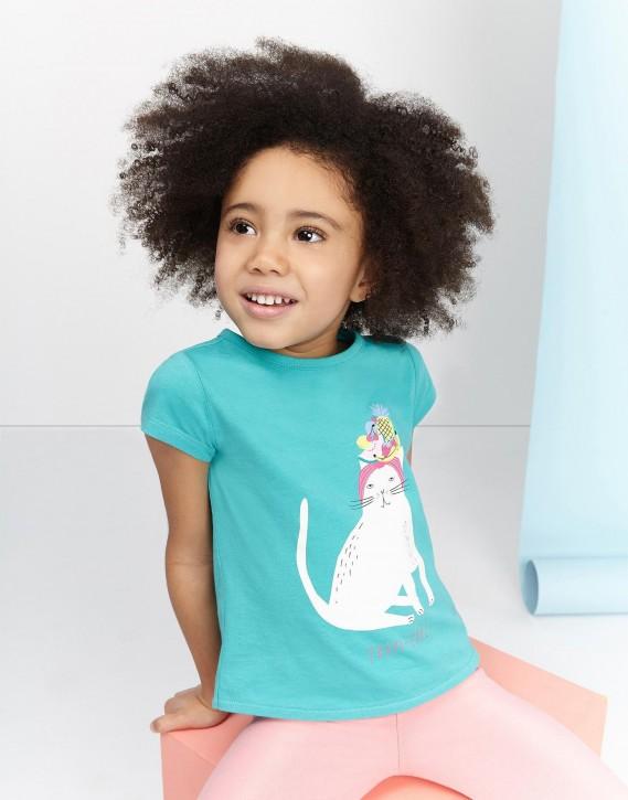 Joules Mädchen T-Shirt PIXIE Katze
