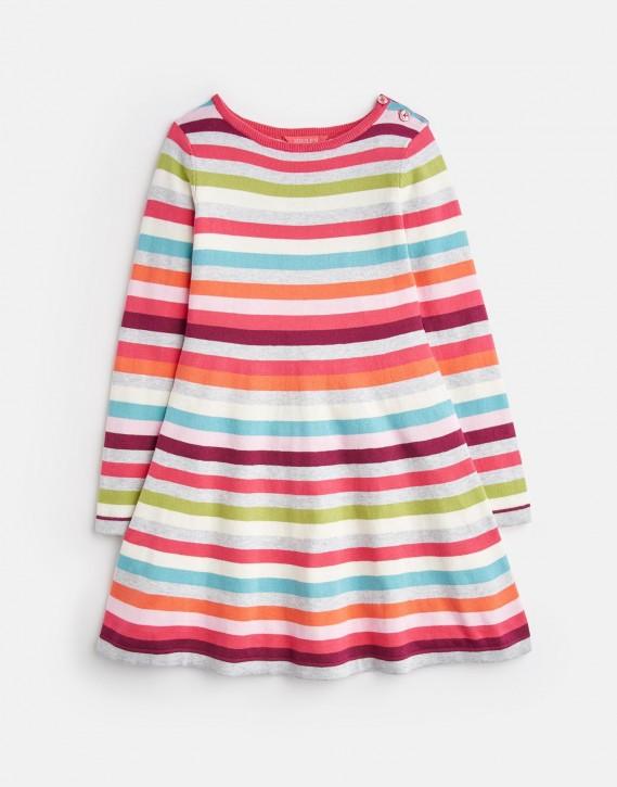 Joules Mädchen Strick-Kleid JANEY multi stripe