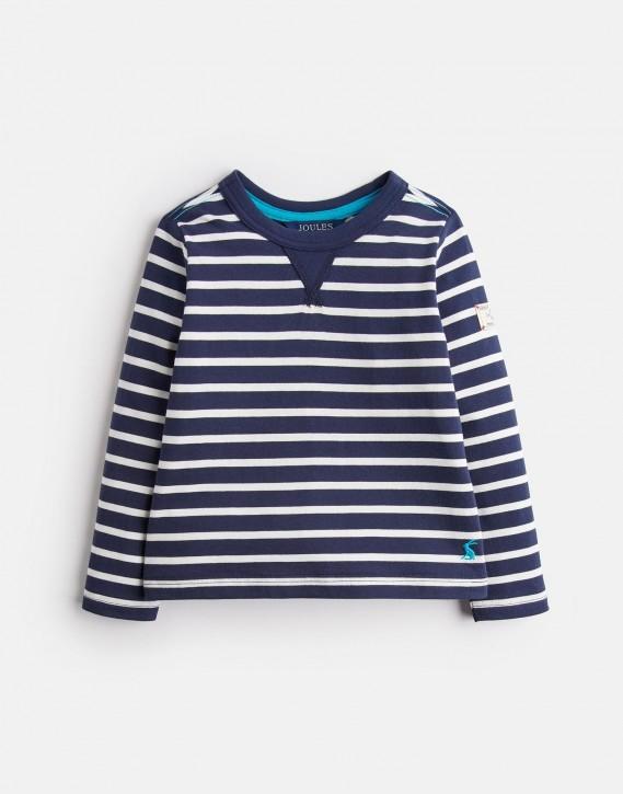 Joules Jungen Langarm-Shirt/Longsleeve BRETN Streifen navy weiß