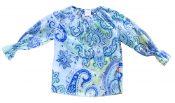 Whoopi Tunika/Bluse blau-grün