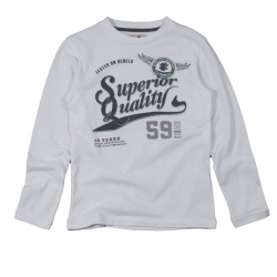 CKS Langarm-Shirt Sheng weiss