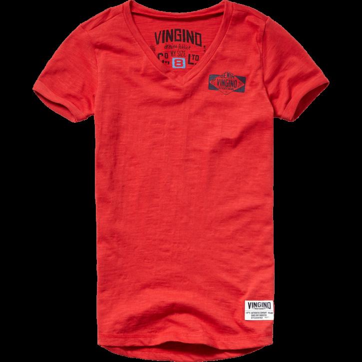 Vingino T-Shirt V-Neck HENORIE burnt red
