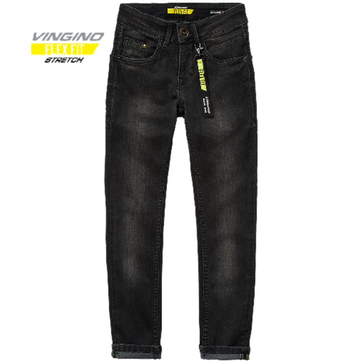 Vingino Jungs Skinny Flex Fit Jeans ALESSANDRO black vintage
