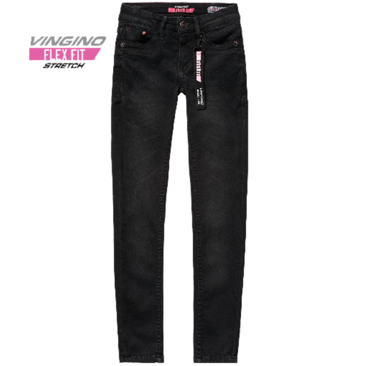 Vingino super Skinny Flex Fit Jeans BERNICE black vintage