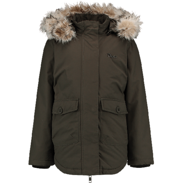 Vingino Winter Long-Jacke / -Mantel mit Kapuze TARIESE dark army