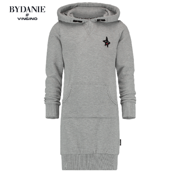 Vingino Kapuzen-Sweat-Kleid PARISIENNE grey mele