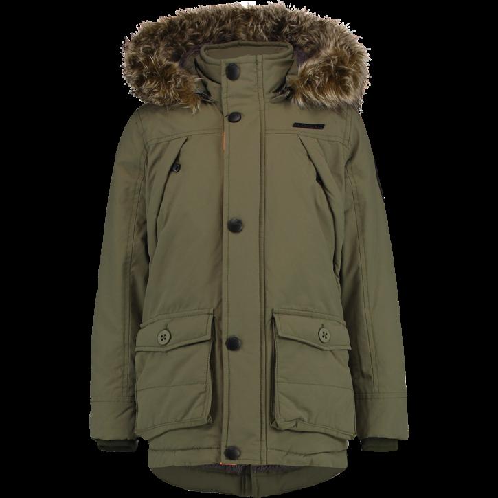 Vingino Winter-Jacke/Winter-Mantel mit Kapuze THIBAUT army green