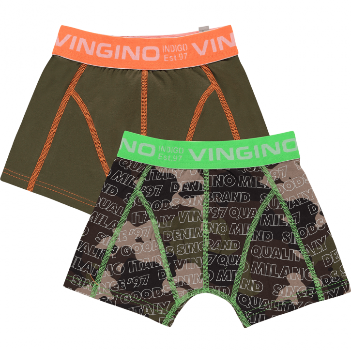 Vingino Boxer/Short 2er-Pack CAMOU camouflage green