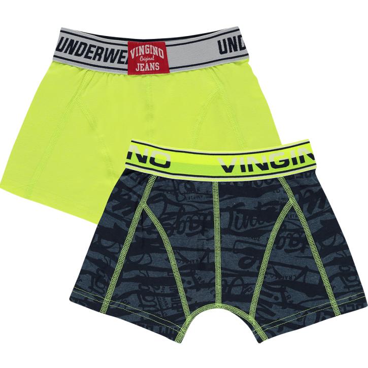 Vingino Boxer/Short 2er-Pack ZEBRA dark blue melange