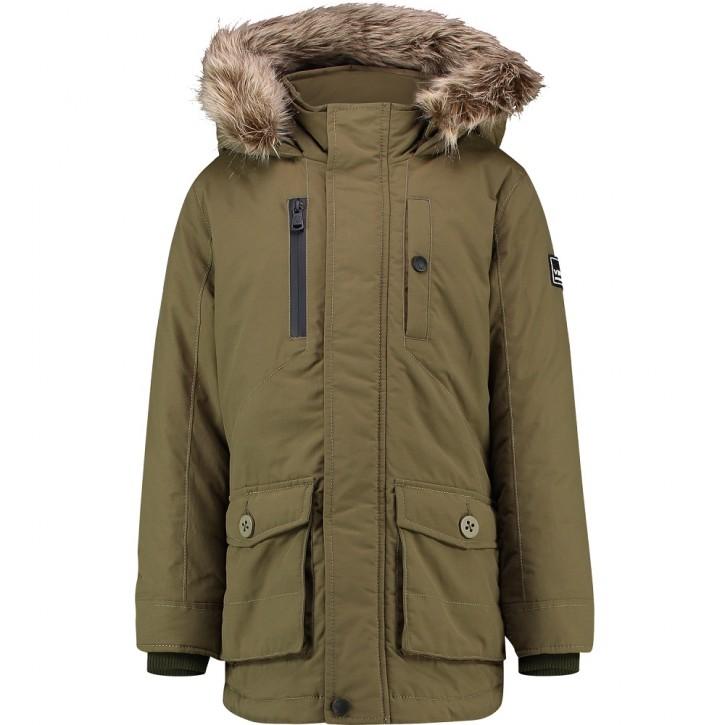 Vingino Winter-Jacke/Winter-Mantel mit Kapuze TAHA ultra army