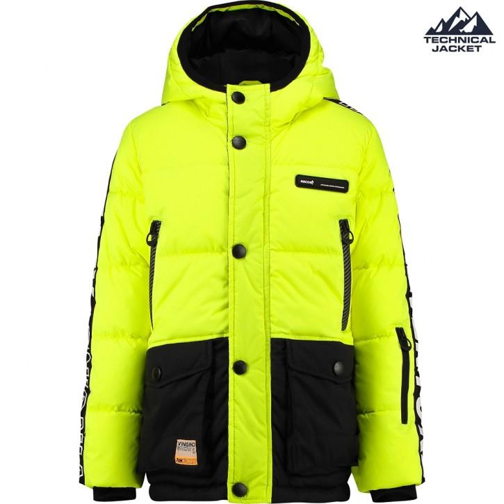 Vingino Ski-Jacke/Winter-Jacke mit Kapuze TIDE neon yellow