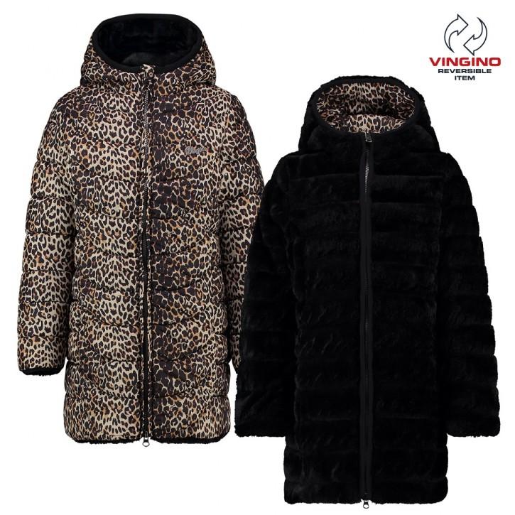 Vingino Winter-Wende-Mantel mit Kapuze Tilya deep black