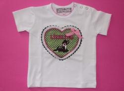 Anouk et Emile T-Shirt Herz LIEBLING Bambi liegend