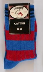 Bonnie Doon Socken Streifen rot-blau-navy