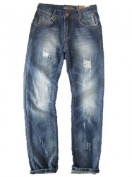 Blue Effect Jungen Jeans destroyed mittelblau NORMAL