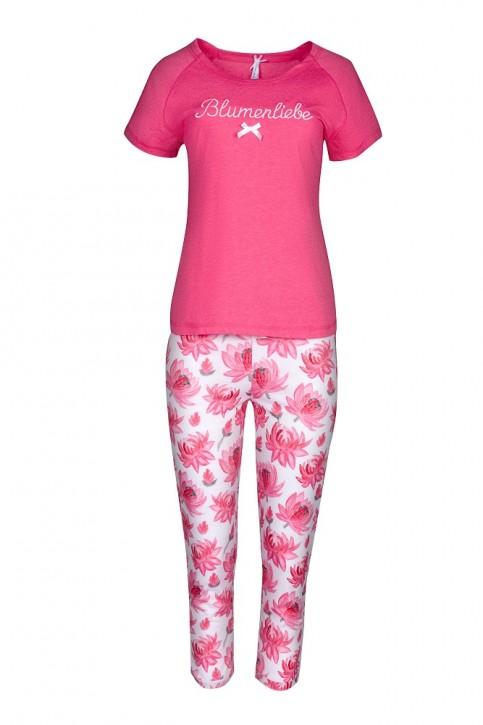 Louis & Louisa Damen Capri Set BLUMENLIEBE pink weiß allover