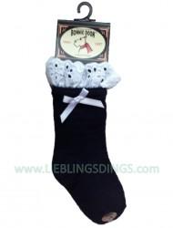 Bonnie Doon Baby Socken Broderie navy mit Spitze