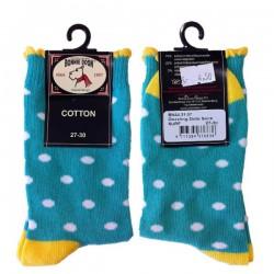Bonnie Doon Damen Socken Dazzling Dots grün/weiß/gelb