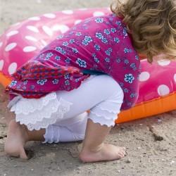 Bonnie Doon Baby Legging Lace Back weiß