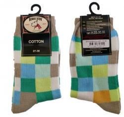 Bonnie Doon Digital Art Socken karo sand/grün/hellblau