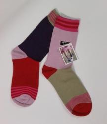 Bonnie Doon Missmatched Socken rot