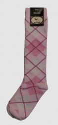 Bonnie Doon Kniestrümpfe Raute rosa
