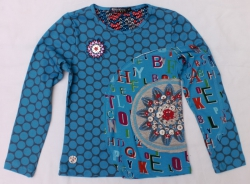 Carbone Langarm-Shirt/Longsleeve Punkte-Mix blau