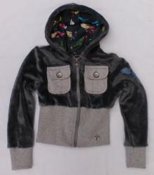 Carbone Kapuzen-Cardigan/Jacke grau
