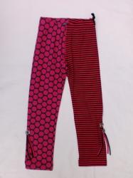 Carbone Legging pink/schwarz gestreift