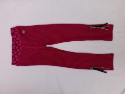 Carbone Strick-Legging pink
