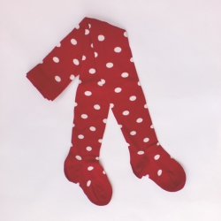 "Bonnie Doon Baby-Strumpfhose ""Dots"" rot-weiss"