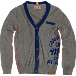 CKS Strick-Cardigan Boris med grey melee