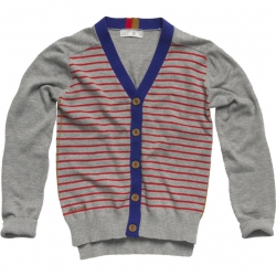 CKS Strick-Cardigan WRIGHT Streifen grey mele