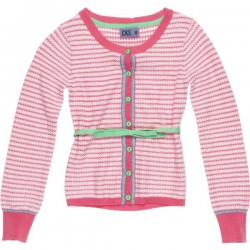 CKS Feinstrick-Cardigan KADENA stripy pink