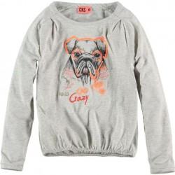 CKS Langarm-Shirt/Longsleeve HAPPI grey mele