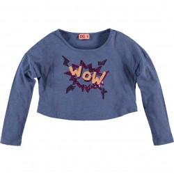CKS Langarm-Shirt/Longsleeve HOVERSIZE denim blue
