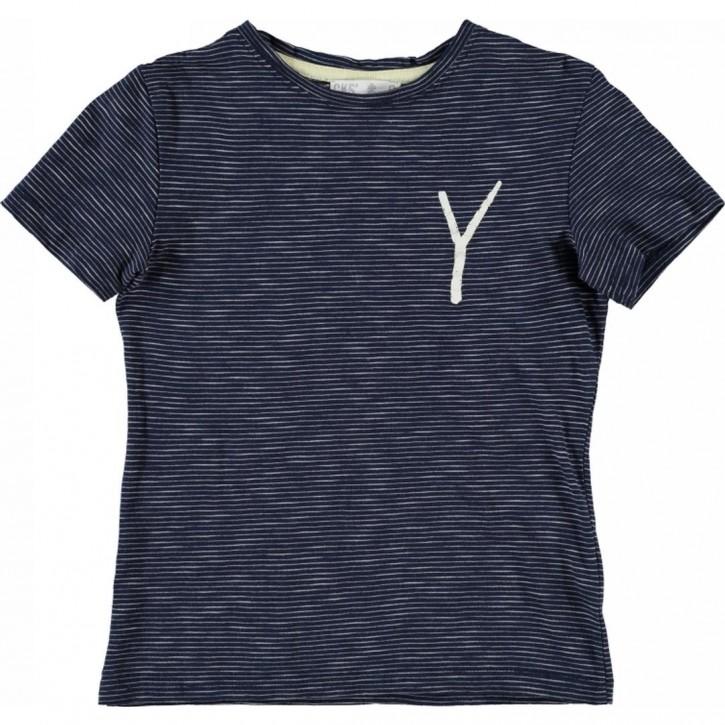 CKS T-Shirt FINLEY denim Stripe