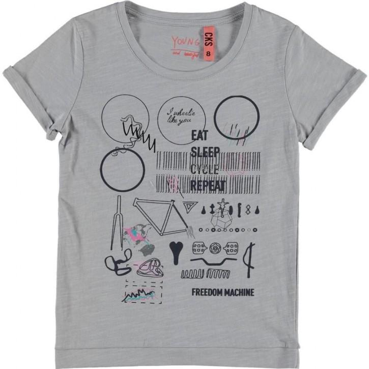 CKS T-Shirt HALLAL grey grip