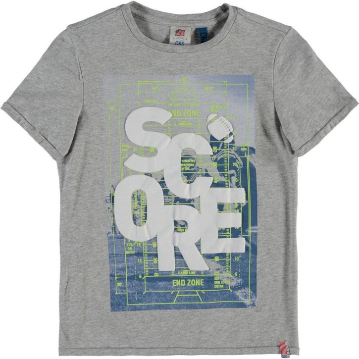 CKS T-Shirt HULKY light grey mele