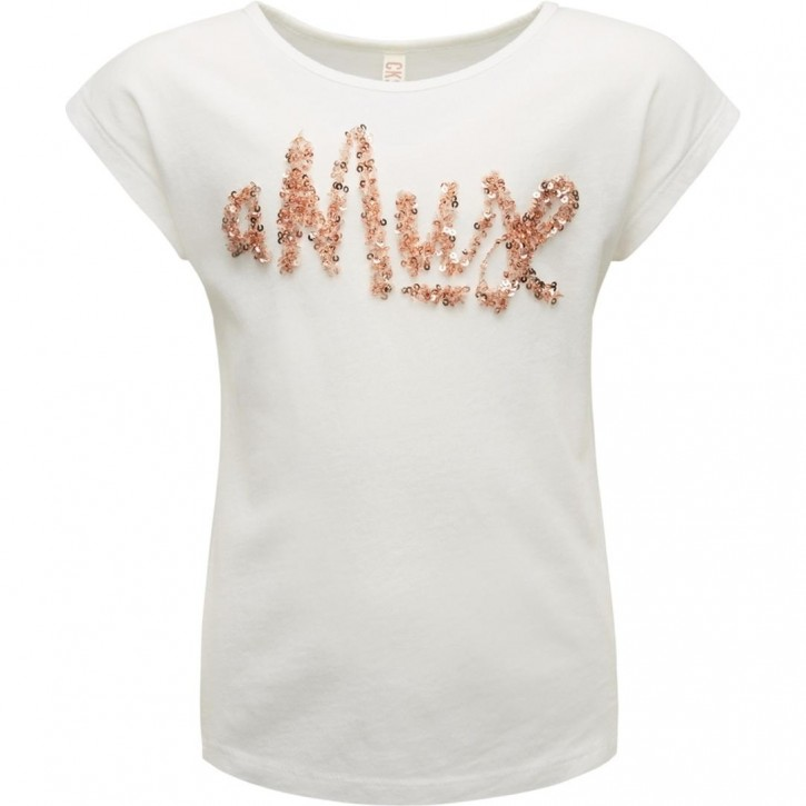 CKS T-Shirt AMUSE white copper