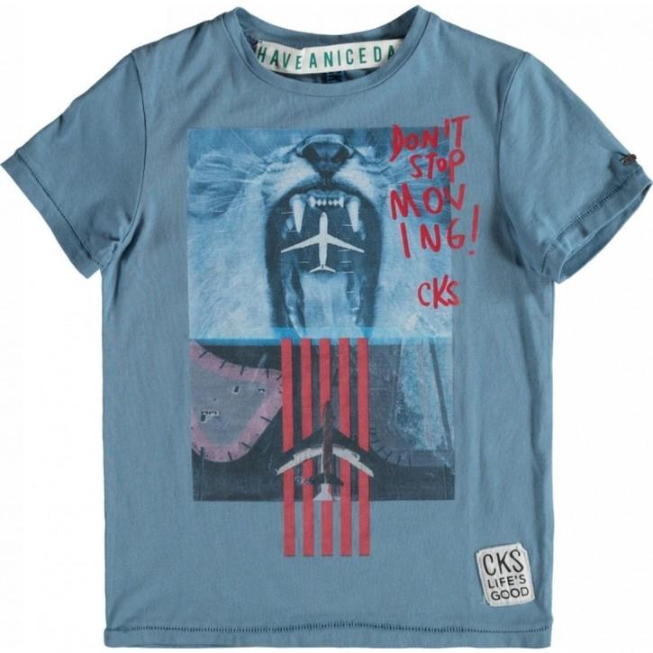 CKS T-Shirt DOMINIC athletic blue
