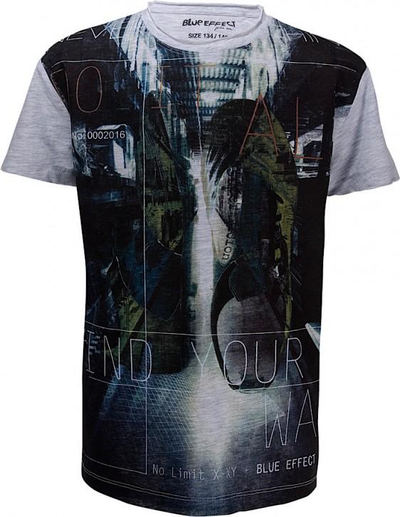 """Blue Effect Jungen Fußball T-Shirt Print hellgrau """"Find your way"""""""