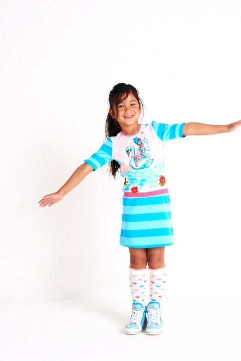 Mim-Pi Kleid Streifen Schwan Fee blue