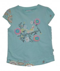 Paglie T-Shirt Vogel mint (blue light)