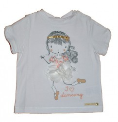 Paglie T-Shirt Ballerina weiß
